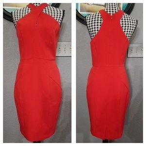 Anthropologie Elegant Red Dress